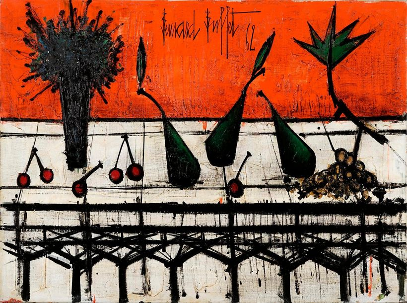 Bernard BUFFET Bernard BUFFET, 1928 1999  Nature morte au bouquet, 1962  huile s…