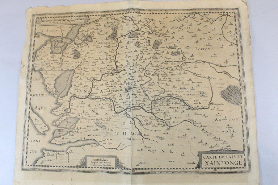 Carte du Pays de Xaintonge  On y joint Catherine II de Russie, 1797, 1 volume