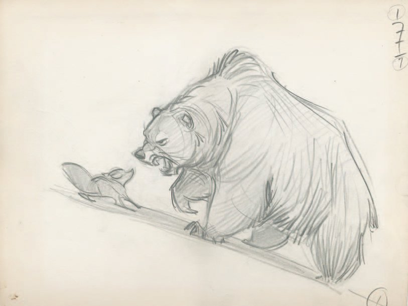 Rox et Rouky (The Fox and the Hound) Studio Disney 1981. Dessin d'animation de l'ours…