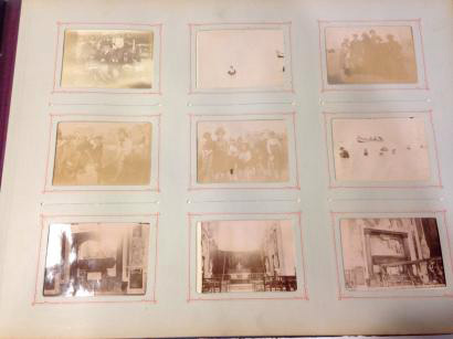 album contenant 193 photos vers 1900 dont :  le paquebot Sussex, des portraits,…