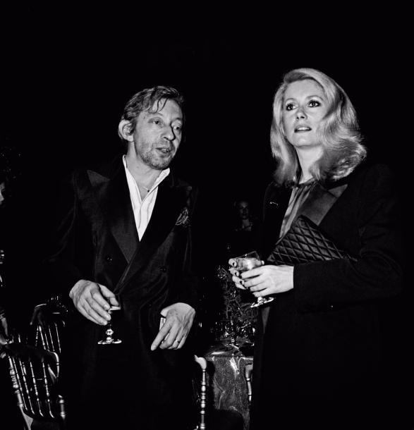 LIDO Serge (1906 - 1984)  Serge Gainsbourg et Catherine Deneuve Paris 1980  Tirage…
