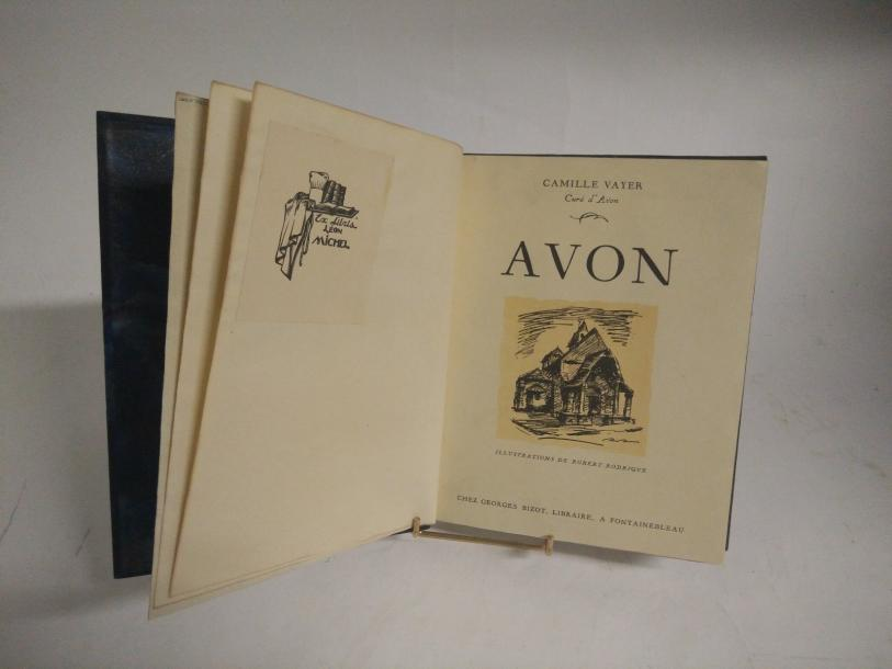[VAYER Camille].  Avon. Fontainebleau, Georges Bizot, 1934. Petit in-4, demi-maroquin…