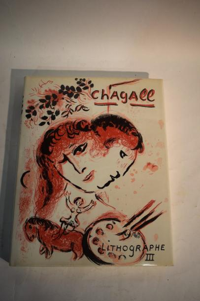 [CHAGALL]  MOURLOT (F.) et SORLIER (Ch.). Chagall lithographe Tome I, II, III, Catalogue…