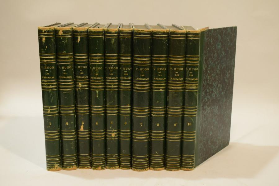HUGO (Victor). Les Misérables. Paris, Pagnerre, 1862. 10 volumes, demi-basane verte,…