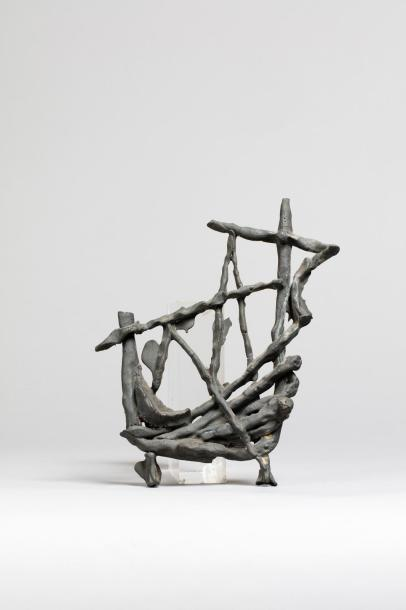 LIBERAKI Aglaé, 1923-2014 Navire, circa 1957 sculpture en fonte d'antimoine (accidents…