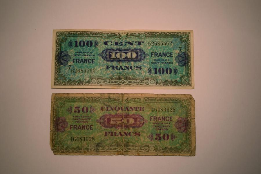 "[ Billet de banque ] [ France ] [ WW2 ]  Billet de banque de 100 francs "" France…"