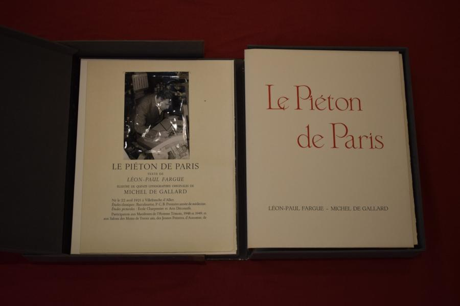 Le piéton de Paris, Léon Paul Fargue, illustré de 15 lithographies de Michel   de…