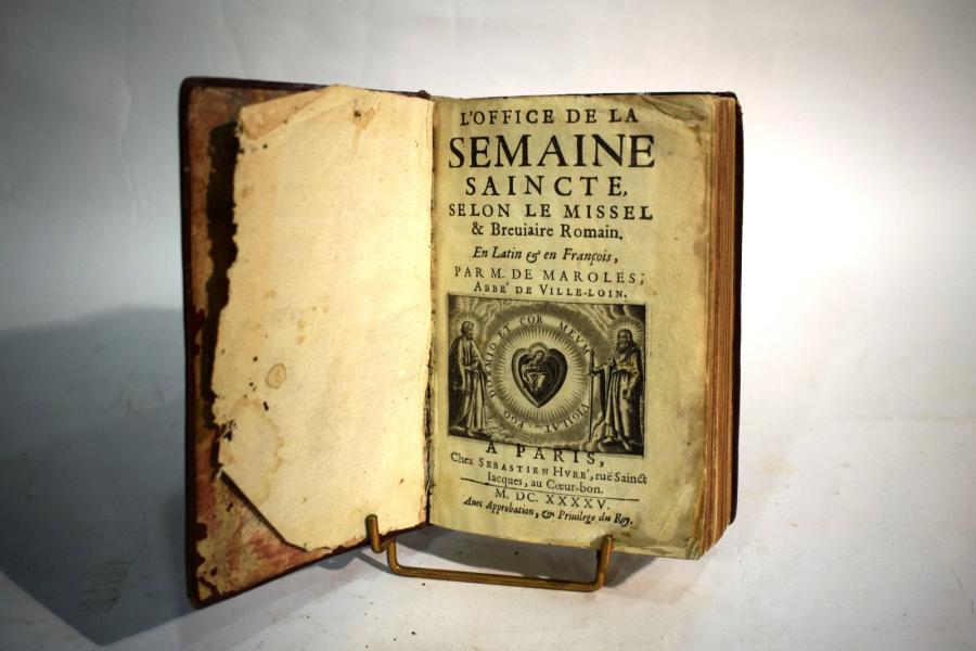 OFFICE DE LA SEMAINE SAINCTE (L'), selon le Missel Breviaire Romain, Paris; bastien…