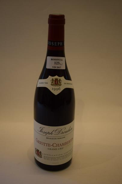 4 	bouteilles 	GRIOTTE-CHAMBERTIN, 		Joseph Drouhin 	1996