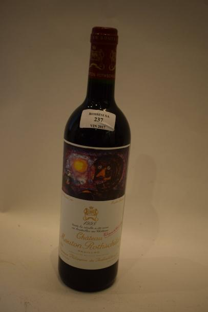 1 bouteille CH. MOUTON-ROTHSCHILD, 1° cru Pauillac 1998