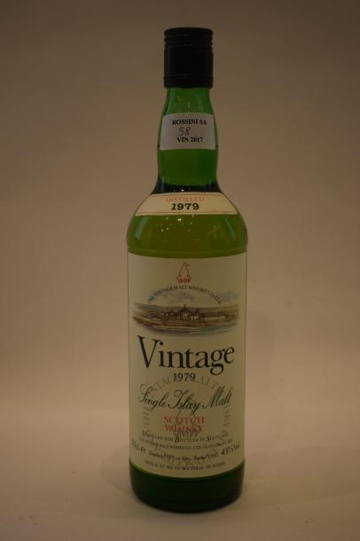 "1 bouteille SCOTCH WHISKY ""Single Islay Malt"",	The Vintage Malt Whisky 1979"