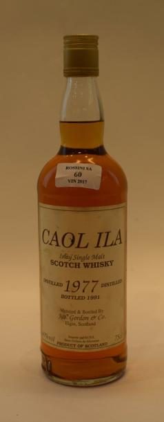 "1 bouteille CAOL ILA ""Single Islay Malt"", Jas. Gordon 1977"