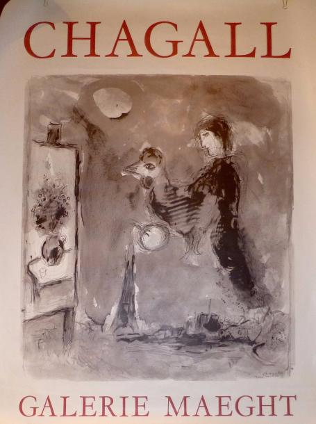 CHAGALL Marc (1887-1985)  Affiche offset , format 160 x 120 cm