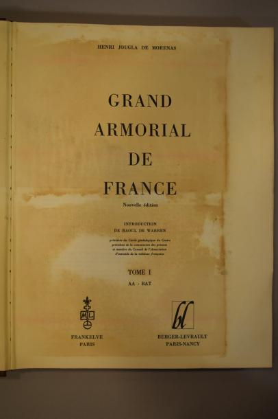 WARREN Raoul (de)  Grand Armorial de France, catalogue général des armoiries des…