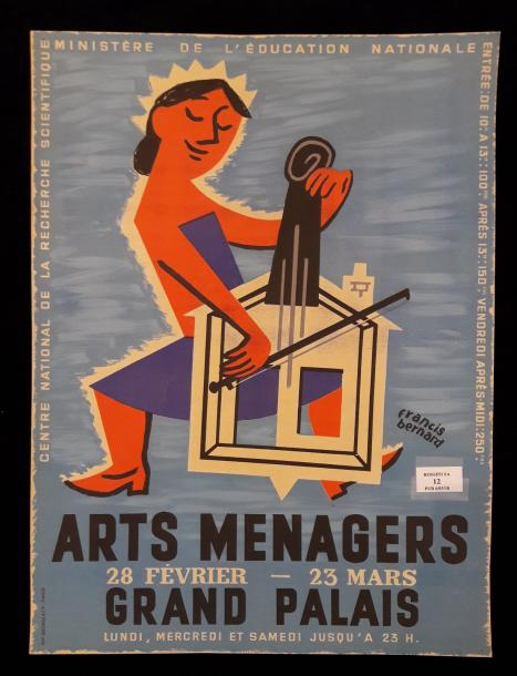 Salon des arts ménagers d'après Francis Bernard ( 1900-1979 ). Grand Palais Paris…