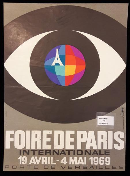 Foire internationale de Paris 19 avril-4 mai 1969 d'après Picard. Imprimerie Lalande-Courbet.…