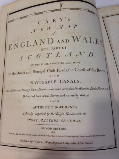 Recueil CARY ' S  Cary's New map of England and Wales with part of Scotland , on…