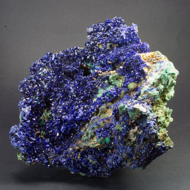 Très belle AZURITE de la mine Sepon, district de Vilaboulhy, Laos (17 x 17 x 8 cm).…
