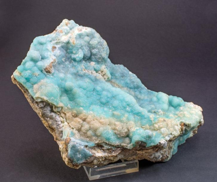 Jolie SMITHSONITE bleue (16 x 12 x 6 cm) de la mine Refugio, Choix, Sinaloa, Mexique…