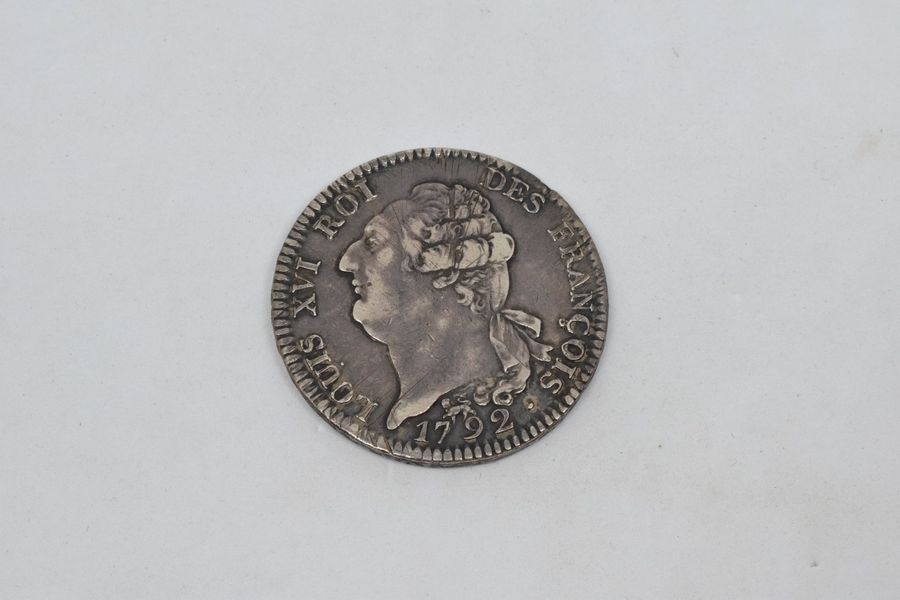 Louis XV (1715-1774) écu constitutionnel. 1792. Paris. D1718. TTB