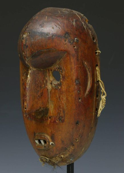 Mali, Bamana, small face mask, with aluminium teeth. Private collection Berlin, …