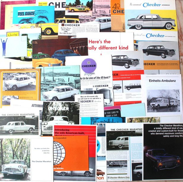 Documentation CHECKER Taxi Américain  Dépliant 2 volets Catalogue 8 pages 1959 C…
