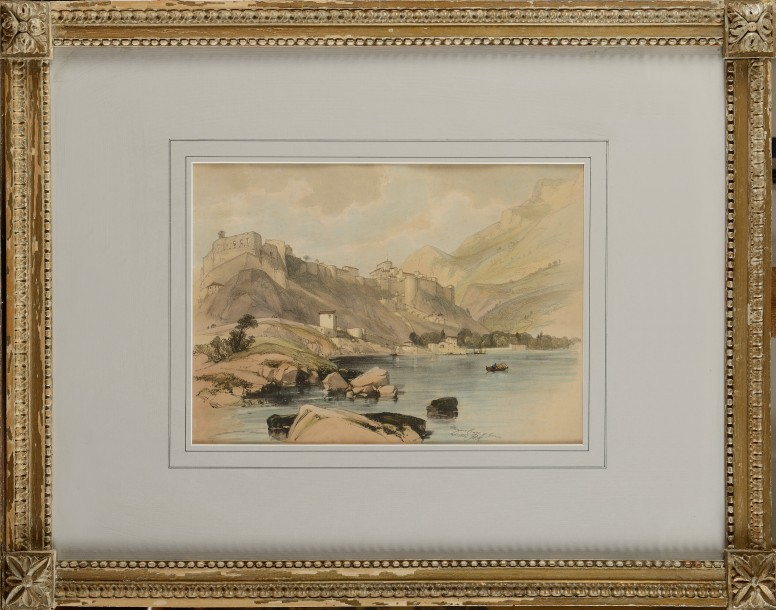 James Duffield HARDING (1798-1863) Monaco Coast of Genoa, sept. 1824 Lithographie…