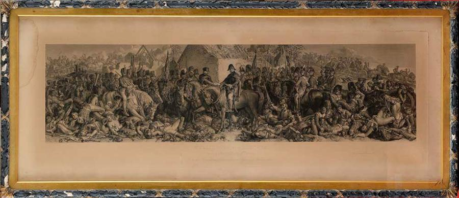 MACLISE, d'après « Wellington and Blucher meeting after the battle of Waterloo »…