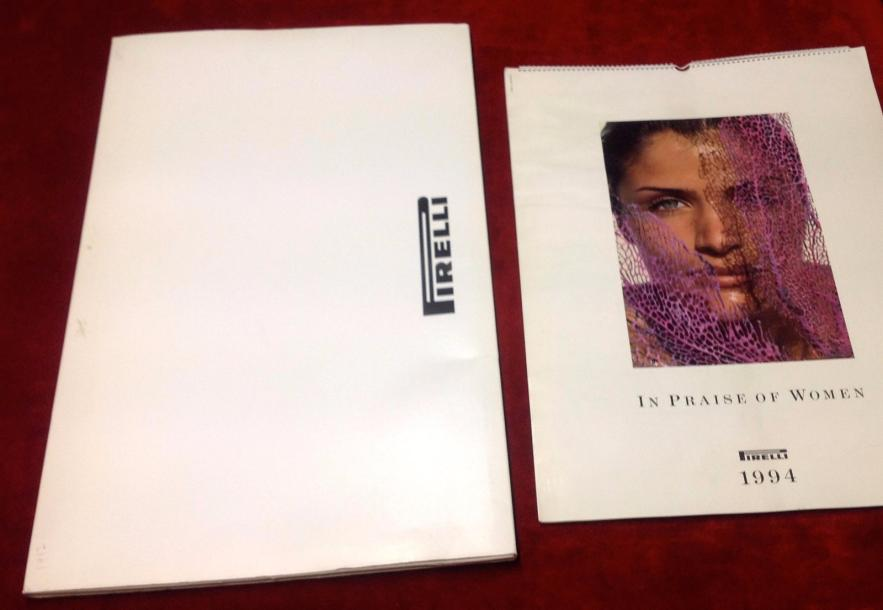 """Calendriers Pirelli de 1994, 1995, 1996, 1997 et 2003""   Collection de 5 calendriers…"