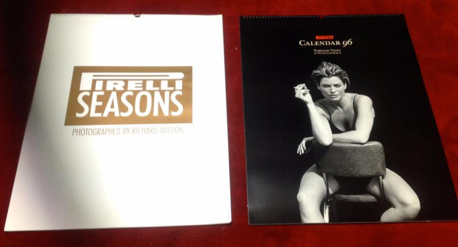 """Calendriers Pirelli de 1985, 1994, 1995, 1996, et 1997""  Collection de 5 calendriers…"