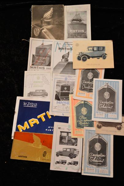 """Catalogues MATHIS de 1911 à 1935 et 1946 à 1950 et MATFORD""   MATHIS: 1913 : Catalogue,…"
