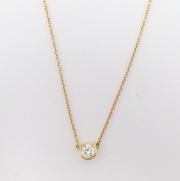 "TIFFANY and CO COLLIER collection "" Diamond by the yard "", Collier en or jaune,…"