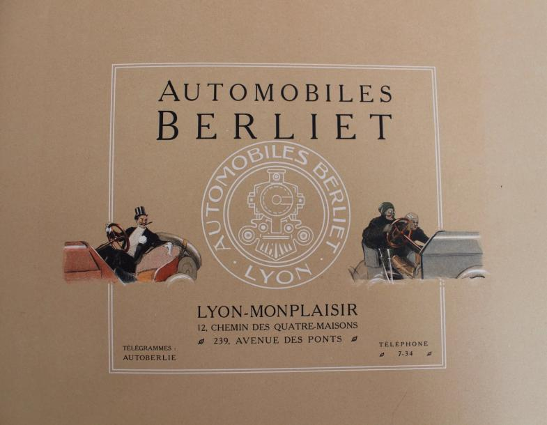 "René VINCENT (1879- 1936)  ""Catalogue Berliet 1907""  Catalogue de 42 pages, complet…"