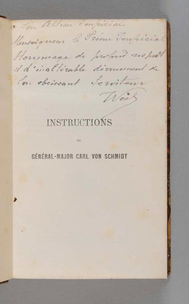 Général Carl von SCHMIDT Instructions relatives à l'instruction, l'éducation, l'emploi…