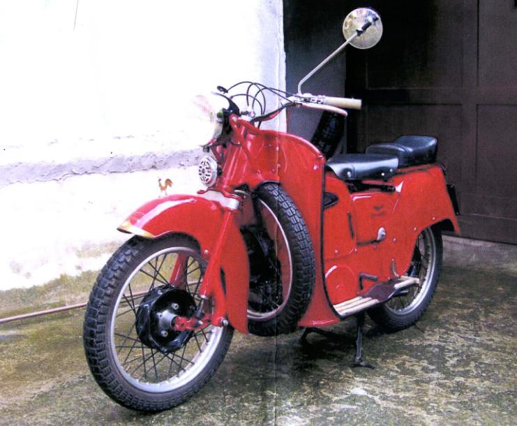 1960  Moto Guzzi  Type Galletto 192  Moteur 160 cc - N° 63280  Titre de circulation…