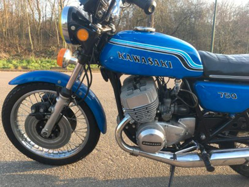 1972 KAWASAKI Type 750 H2A N° 15017 - Carte grise française Matching Numbers La…
