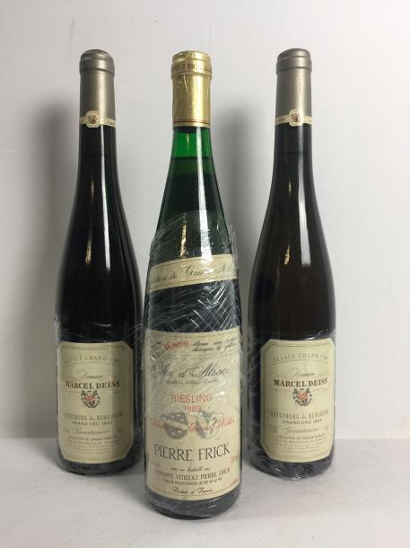 2 Blle ALTENBERGER DE BERGHEIM Grand Cru (Selection de Grains Nobles) 1989 - Très…