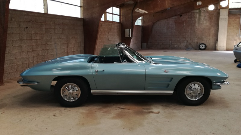 1964 CHEVROLET CORVETTE C2 STING RAY Attestation FFVE A immatriculer en collection…