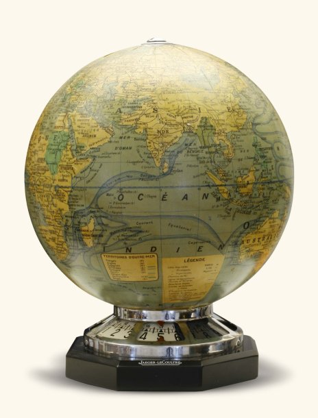 jaeger lecoultre globe terrestre vers 1940 rare pendulette lampe avec globe. Black Bedroom Furniture Sets. Home Design Ideas