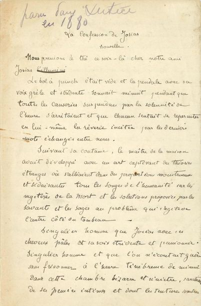*Laurent TAILHADE (1854 1919). 2 MANUSCRITS autographes ; 8 pages in 8 et 4 page…