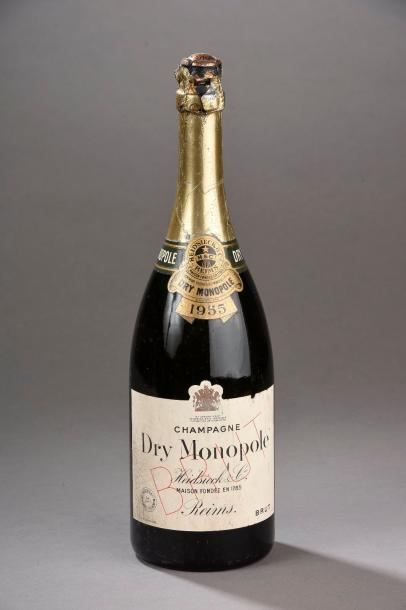 """1 magnum CHAMPAGNE """"Dry Monopole"""", Heidsieck 1955 (TLB)"""