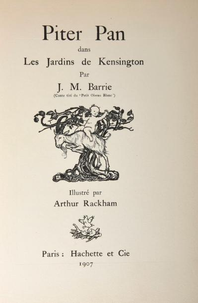 BARRIE (James Matthew). Peter Pan dans les jardins de Kensington. Paris, Hachette…