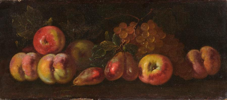 Giovanni Paolo CASTELLI dit SPADINO (Rome 1659 - 1730). Pêches, pommes, quetsches…