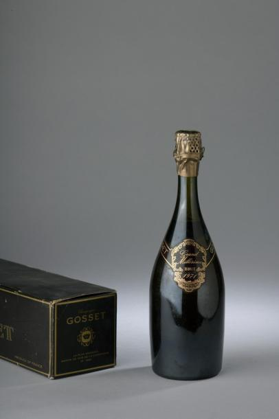 """1 bouteille CHAMPAGNE """"Grand Millésime"""", Gosset 1971 (TLB)."""