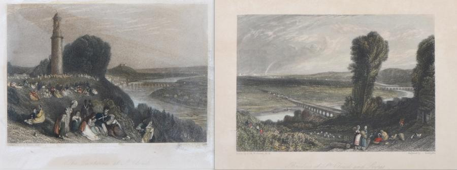 "J.T. WILLMORE, RADCLIFFE et S. FISHER d'après J.M.W. TURNER. ""Bridges of St Cloud…"