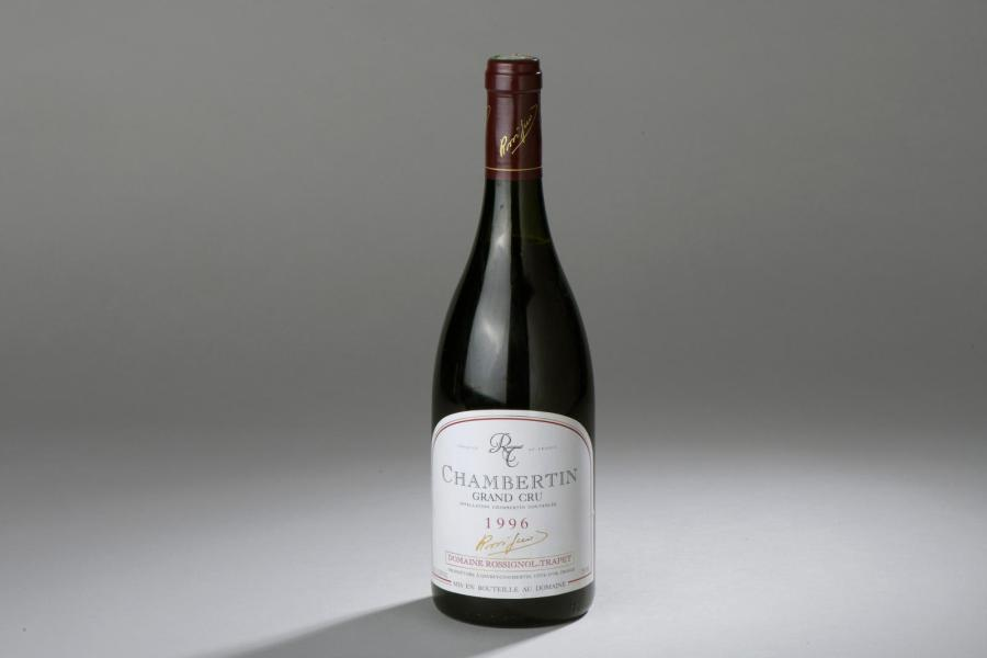 1 bouteille CHAMBERTIN, Rossignol-Trapet 1996 (suintante, capsule percée)