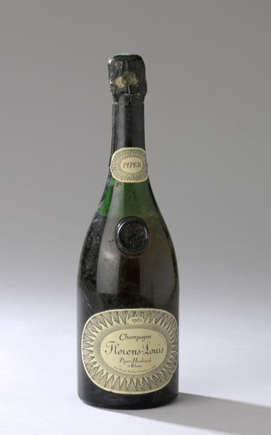 """1 bouteille CHAMPAGNE """"Florens-Louis"""", Piper-Heidsieck 1961 (MB)"""
