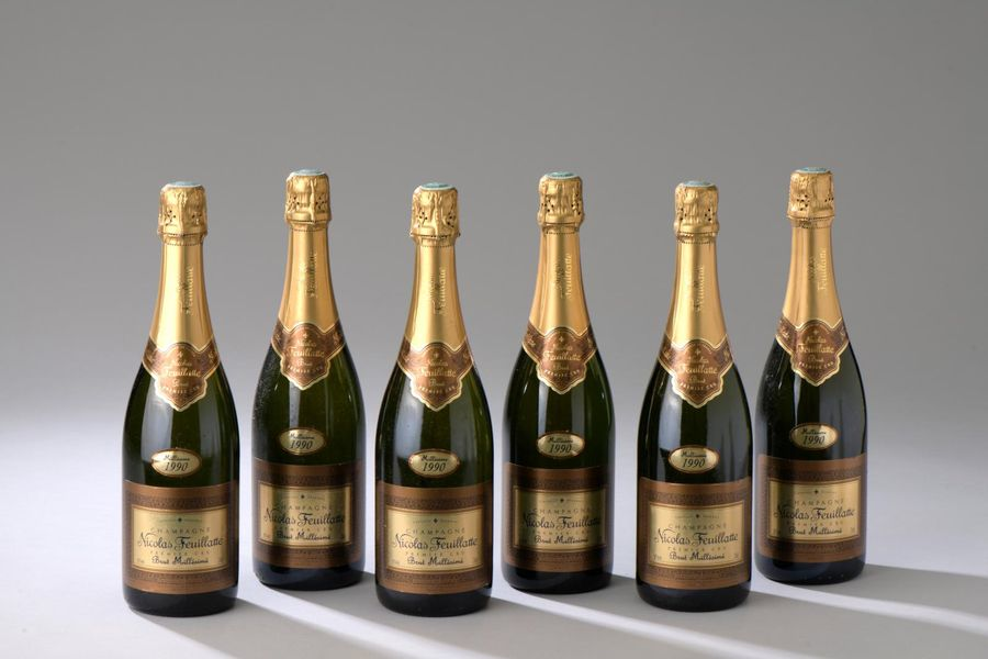 6 bouteilles CHAMPAGNE N. Feuillatte 1990