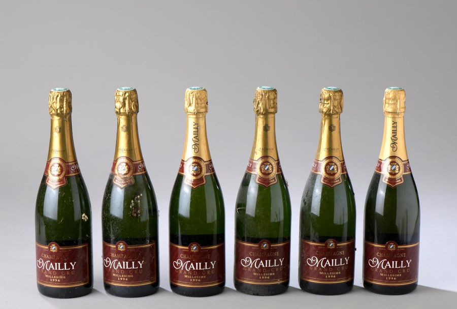 6 bouteilles CHAMPAGNE Mailly 1996
