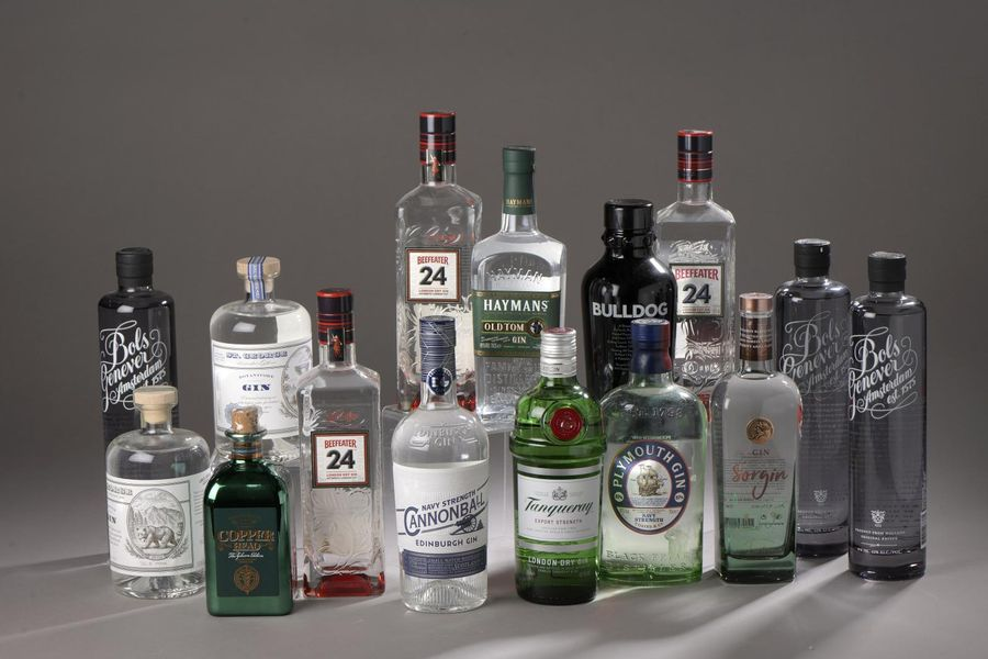 *15 bouteilles GIN DIVERS